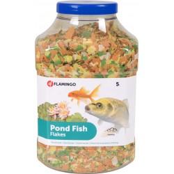 FL-1030468 Flamingo 5 litros, comida de estanque en escamas. Comida y bebida