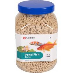 FL-1030465 Flamingo 2 litres, nourriture poisson d'étang en sticks. Comida y bebida