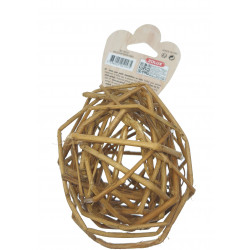 zolux EHOP dark rattan ball toy for rodents. Games, toys, activities