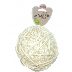 zolux EHOP Rattan ball toy for rodents. Games, toys, activities