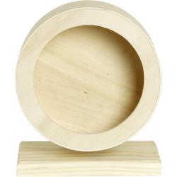 Karlie Roue d'exercice Bogie en bois 20 cm. pour rongeur. Jeux, jouets, activités