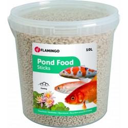 Flamingo Pet Products 10 Liter, Teichfischfutter in Stäbchenform. FL-1030483 Essen und Trinken