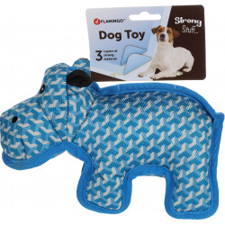 Flamingo Pet Products Strong Stuff Blue Hippo toy for dogs. Jouets à mâcher