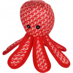 Flamingo Pet Products Strong Stuff Octopus red toy for dogs. Jouets à mâcher