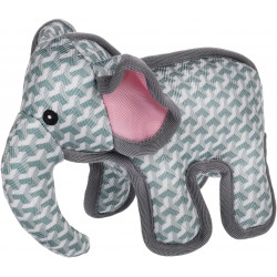 Flamingo Pet Products Strong Stuff grey elephant toy for dogs. Jouets à mâcher