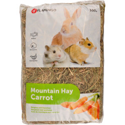 Flamingo Pet Products Mountain hay with carrots. 500 gr. for rodents. Hay, litter, shavings