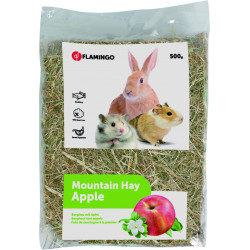 Flamingo Pet Products Mountain hay with apples. 500 gr. for rodents. Hay, litter, shavings
