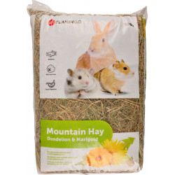 Flamingo Pet Products Mountain hay with dandelion flower. 500 gr. for rodents. Hay, litter, shavings