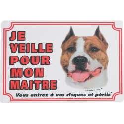Flamingo Pet Products American Staffordshire Terrier gate sign. dog. Panel panel