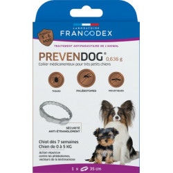 Francodex Prevendog anti-parasite collar from 0 to 5 KG. for very small dogs pest control collar