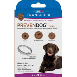Francodex Prevendog anti-parasite collar for large dogs up to 25 KG. pest control collar