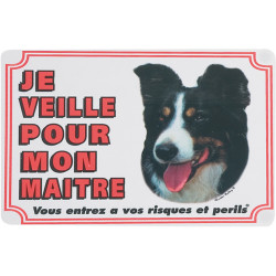 Flamingo Pet Products Border Colley gate sign. dog. Panel panel