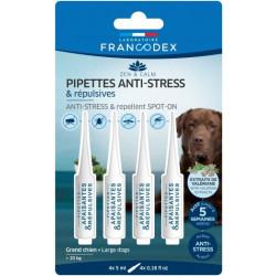 Francodex Pipette antistress e repellenti per cani di taglia grande oltre i 20 kg. FR-175304 Pipette per il controllo dei par...