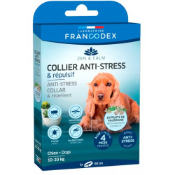 Francodex Anti-Stress and Repellent collar for dogs from 10 kg to 20 kg. pest control collar
