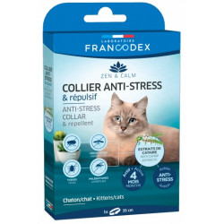 Francodex Anti-Stress and Repellent collar for kittens and cats. ANTIPARASITAIRE