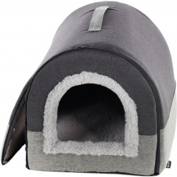 Flamingo Pet Products KENZIE. cestino di gatto grigio. FL-561207 Dormire
