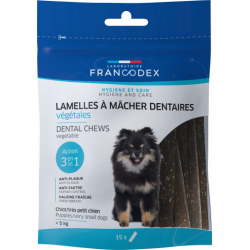 Francodex Chewing strips for puppies and small dogs, 114g bag. Nourriture