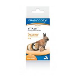 Vitavit aanvullend diervoeder voor knaagdieren en dwergkonijnen, 18 g fles. Francodex FR-174057 Snacks en supplementen