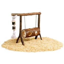 Balanço de madeira para hamster e rato. Pequeno roedor. FL-88608 Jogos, brinquedos, actividades