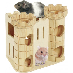 Flamingo Pet Products Wooden robin castle for hamster and mouse. small rodent. Games, toys, activities