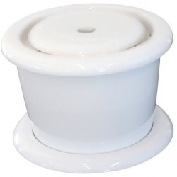 3 Litres, Fontaine à eau, TREVI, pour chien et chat, couleur blanche. Fontaine Flamingo FL-517943