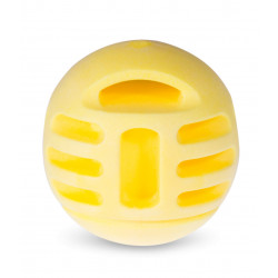 Vadigran Vanilla yellow TPR ball ø 8 cm. for dogs. Balles pour chien
