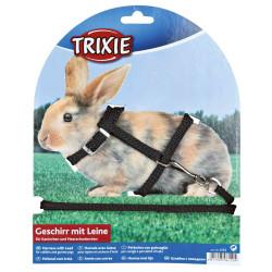 Arreios com trela para coelhos, tamanho 25-44 cm/8 mm, cores aleatórias. TR-6150 Coleiras, trelas, arneses