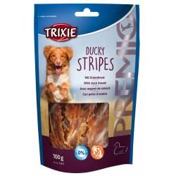"""Friandise """"Ducky Stripes"""" au magret de canard pour chien 100 g Nourriture Trixie TR-31537"""