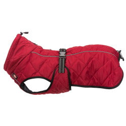 Trixie minot coat size XS- neckline max 30 cm. red color. for dog. dog clothing