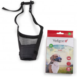 Vadigran Adjustable nylon muzzle, neck from 22 to 38 cm. T M. for labrador type dogs. Muselière