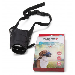 Vadigran Adjustable nylon muzzle. neck from 26 to 42 cm T L. for rottweiler type dog Muselière