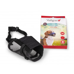 Vadigran Adjustable nylon muzzle, neck from 28 to 46 cm. T XL. for dog type ST. Bernard Muselière
