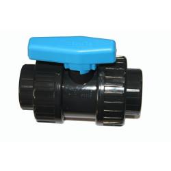 Vanne ø 20 mm a boisseau a coller PVC - PLIMEX Vanne piscine  Plimat SO-VAC20