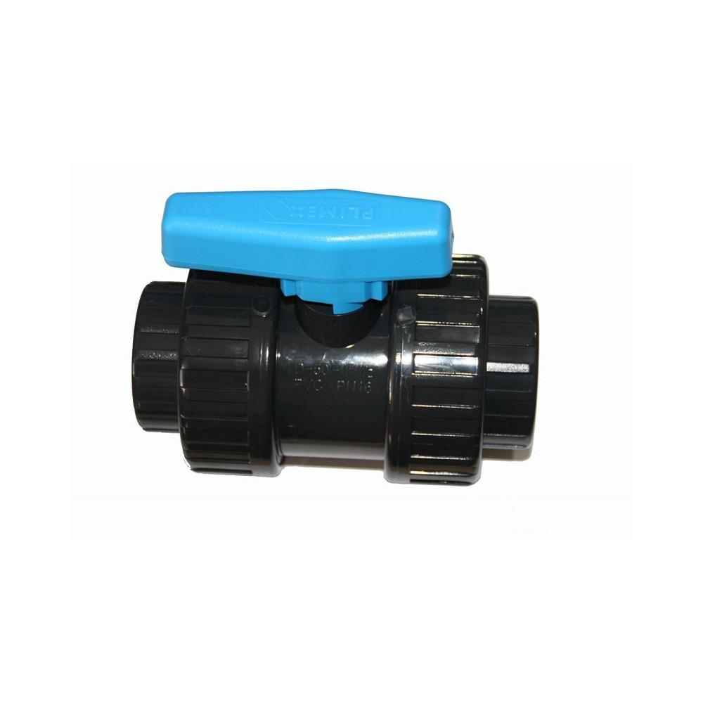 SO-VAC20 Plimat Vanne ø 20 mm a boisseau a coller PVC - PLIMEX Válvula de piscina