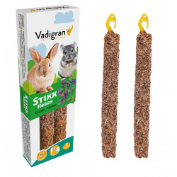 Vadigran Snack Stixx herbs 90 grams. for rabbits and chinchilla. Nourriture lapin