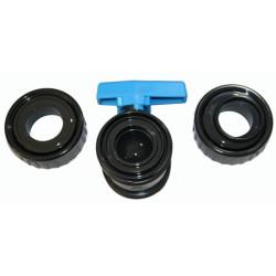 Plimat Vanne ø 20 mm a boisseau a coller PVC - PLIMEX SO-VAC20 Vanne piscine
