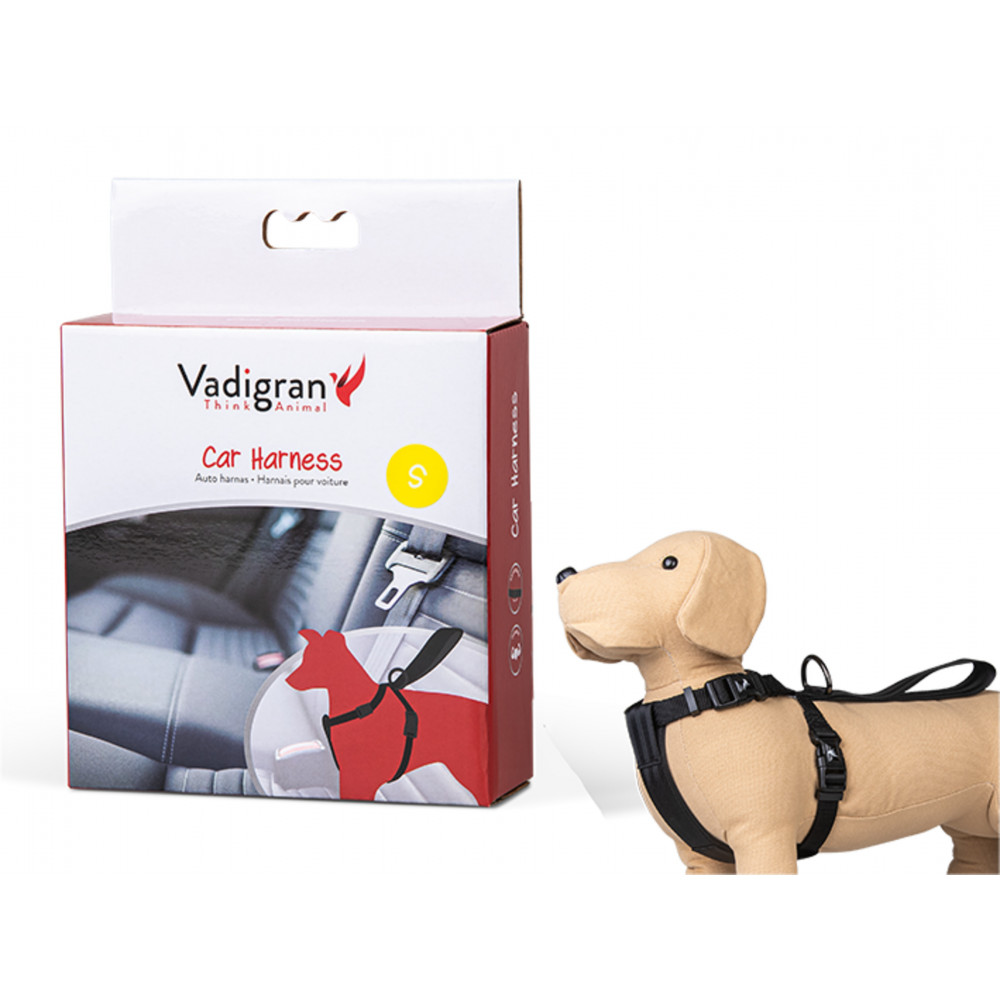 Vadigran Harness and car safety belt. Size S. for dogs. Dog Safety