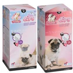 Couches X-S 25 à 33 cm 12 pieces pour Chiens. Dipy éducation propreté chien Flamingo FL-510584