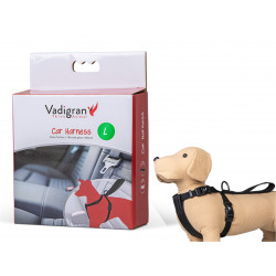 Arnês e cinto de segurança do carro. Tamanho L. para cães. VA-16832 Segurança do Cão