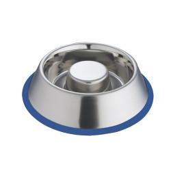 Nobby Anti-slip stainless steel bowl SLOW ø 16,5 cm 0,55 Litre Bowl, bowl, bowl