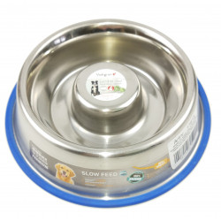 Nobby Anti-slip stainless steel bowl SLOW ø 18 cm 0,75 Litre Bowl, bowl, bowl