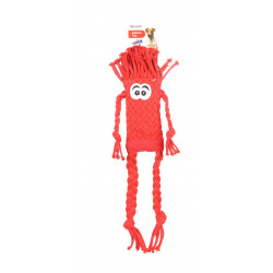 Flamingo Pet Products Basil braided rope toy, red. 48 cm. Dog toy. Jeux cordes pour chien
