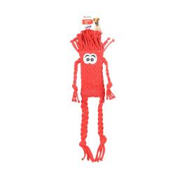 Brinquedo de corda com trança de manjericão, vermelho. 48 cm. Brinquedo de cão. FL-521054 Jeux cordes pour chien