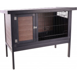 Flamingo Pet Products Ramos rabbit hutch Brown synthetic material. Hutchman