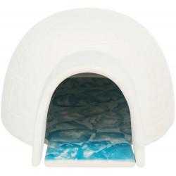 Trixie Igloo avec plateau rafraîchissant pour hamster et souris. Lits, hamacs, nicheurs