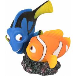 LETO poisson CLOWN et poisson bleu 10 X 9 X 10 cm décoration aquarium Décoration et autre  Flamingo FL-410226