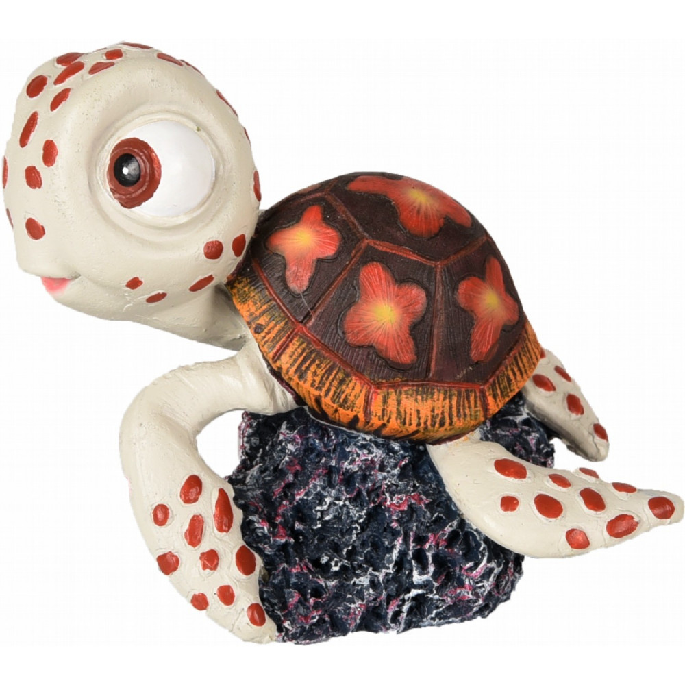 LETO TORTUE 8X6X7CM DECORATION AQUARIUM Décoration et autre  Flamingo FL-410228