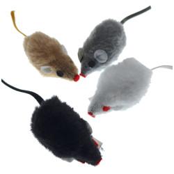 animallparadise 4 Souris poils ras 5 cm jouet pour chat. Jeux