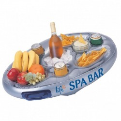 Jardiboutique Floating bar for Spa or pool - color SILVER Spa accessory