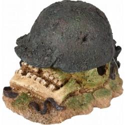 Capacete de Hades com crânio, 12 x 10 x 8 cm, decoração de aquário. FL-410218 Decoração e outros